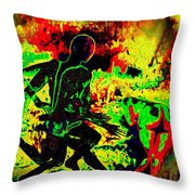 The Thunder Of Rock 'n' Roll Throw Pillow