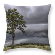 The Thunder Rolls - Storm - Pine Tree Throw Pillow by Jason Politte