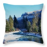 The Tieton River Throw Pillow by Jeff Swan