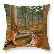 The Tigers Throw Pillow