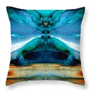 The Time Traveler - Surreal Fantasy Art By Sharon Cummings Throw Pillow