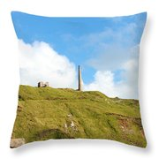 The Tin Mines Of Cornwall Throw Pillow
