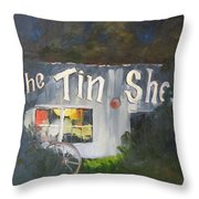 The Tin Shed Throw Pillow