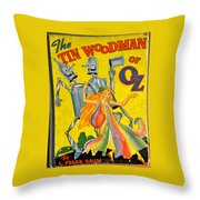 The Tin Woodsman Of Oz Throw Pillow