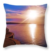 The Tip Of The Thumb Throw Pillow