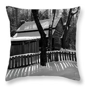 The Tipton Place Homestead II Throw Pillow
