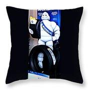 The Tire Man Throw Pillow