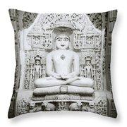 The Tirthankara Throw Pillow