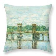 The Toll Bridge New Hampshire Throw Pillow