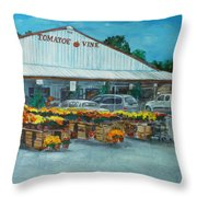 The Tomatoe Vine Throw Pillow
