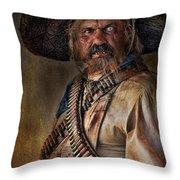 The Tombstone Bandito Throw Pillow