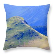 The Top Of Catbells In The Lake District Throw Pillow