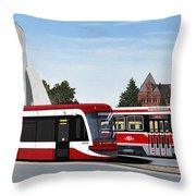 The Toronto Streetcar 100 Years Throw Pillow