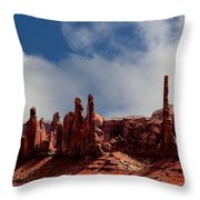 The Totems Monument Valley Throw Pillow