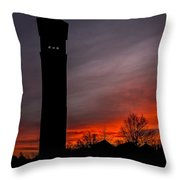 The Tower @ Dawn - Square Silhouette Throw Pillow