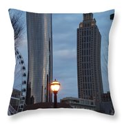 The Tower And The Plaza Throw Pillow