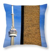 The Tower And The Stack Throw Pillow