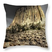 The Tower Of Boulders Throw Pillow