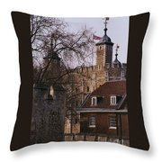The Tower Of London # 1 Throw Pillow