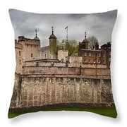 The Tower Of London Uk The Historic Royal Palace Throw Pillow