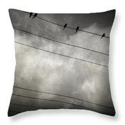 The Trace 11.24 Throw Pillow by Taylan Apukovska