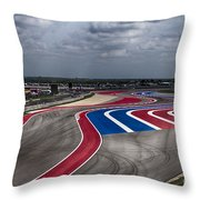The Track Throw Pillow