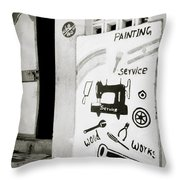 The Trader Throw Pillow
