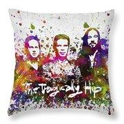 The Tragically Hip In Color Throw Pillow