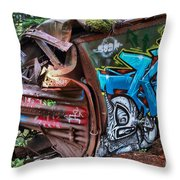 The Train And The Tree Throw Pillow