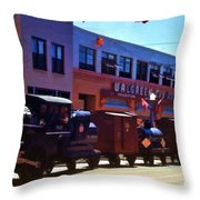 The Train In The Parade Throw Pillow