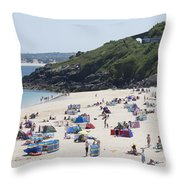 The Train Line Porthminster Throw Pillow