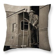 The Train Robber Throw Pillow