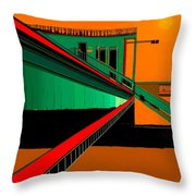The Train Station  Number 9 Throw Pillow