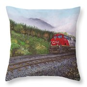 The Train West Throw Pillow