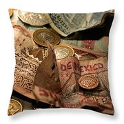The Traveller's Nightstand Throw Pillow