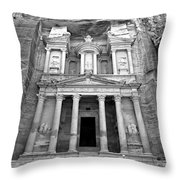 The Treasury At Petra Throw Pillow