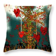 The Tree Of Hearts Throw Pillow