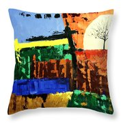 The Tree Of Knowledge Of Good And Evil Throw Pillow by Anthony Falbo