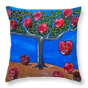 The Tree Of Life Throw Pillow by Sandra Marie Adams