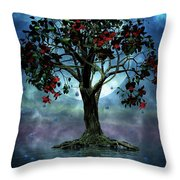 The Tree That Wept A Lake Of Tears Throw Pillow