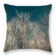 The Trees Of Teal Throw Pillow