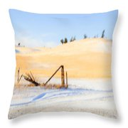 The Trees On The Hill Throw Pillow