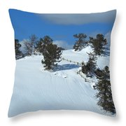 The Trees Take A Snow Day Throw Pillow