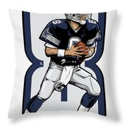 The Triplets Leader Qb 8 Throw Pillow