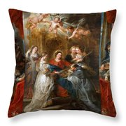The Triptych Of Saint Ildefonso Altar Throw Pillow