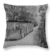 The Trolley Throw Pillow