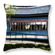 The Trolley Stop - Hotel Fiesole Throw Pillow
