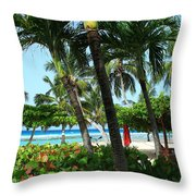 The Tropics Throw Pillow