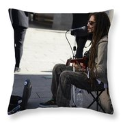 The Troubadour - Javier Manik 1 Throw Pillow