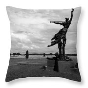 The Trumpet Sounds At Gettysburg Throw Pillow